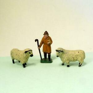 RARE Vintage Lead HORNBY SHEPHERD + SHEEP O Gauge 1930s -  Railway From Set no 6