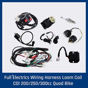 COMPLETE ELECTRICS QUAD 200 250cc OHC.Zongshen Loncin generator coil harness cdi