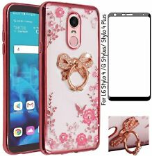 For Lg Stylo 4 /Q Stylus/ Stylo 4 Plus Case Bling Crystal Soft +Screen Protector