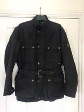 Belstaff Mens Wax Jacket Size Mefium In Black