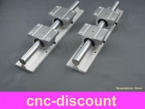 CNC Set 16x 350mm 2x Linearführung 4x Linearwagen Linear Guide Rail 3D Fräse ros