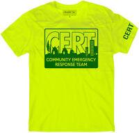 CERT Full Front t-shirt, Community Emergency Response Team t-shirt, Preparedness