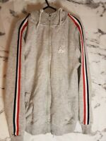 Mens Grey Kwd Zip Up  Hoody stripes on the arm size s pants  tracksuit