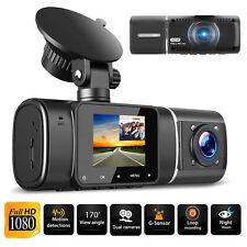 New listing Dual Lens Front & Inside Camera Hd Car Dvr Dash Cam Video Recorder Night Vision