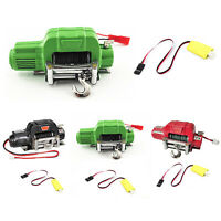 Metall Winch 3-Wege Wireless Controller für 1/10 Axial SCX10 TRX4 D90 RC Crawler