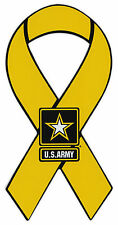 Ribbon Magnet - US Army Yellow Ribbon Military - Cars, Trucks, Refrigerator
