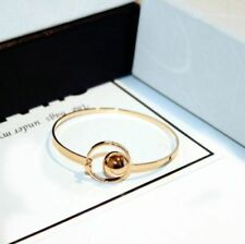 18K CT Rose Gold Filled Slip on Circle bangle made with SWAROVSKI ELEMENTS