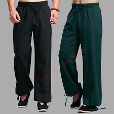 100% Algodón Pantalones Tai Chi Wing Chun Shaolin Kung Fu Artes Marciales Pantalones Informales