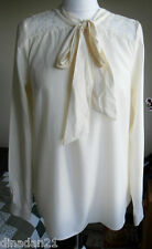 Next top, size 12, ivory, with lace, long sleeve, brand new