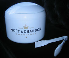 ICE IMPERIAL MOET CHANDON  ICE BUCKET WITH LID DRAINER AND TONGS NEW LARGER SIZE
