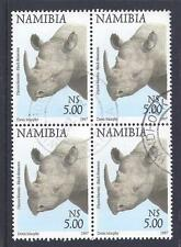NAMBIA, 1997 FLORA & FAUNA, $5 BLACK RHINO, SG 765, FINE USED,BLOCK 4, CAT £8