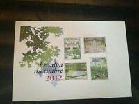 Variete exeptionnelle Bloc feuillet 132  Salon du Timbre 2012  sans dorure