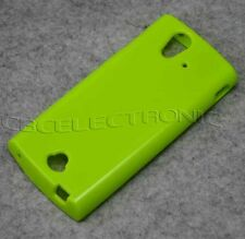 New Green Jelly Rubber soft case skin cover for Sony Xperia Ray ST18i