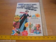 1973 Mary Poppins Hefty flower stick promotional advertising page Disney