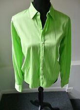 Ralph Lauren Golf NWOT Green & White Stripe Long Sleeve Button Down Shirt Medium
