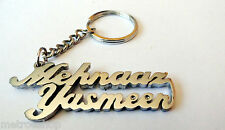 2 Names in 1 Personal Name Keychain handcarved Key chain Special Personalized