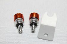 NEW CNC FORK BLEEDER PRESSURE RELIEF VALVE KTM SX SX-F XC (2008-2011) -ORANGE