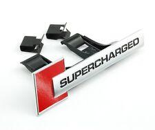 Audi Supercharged rot Schriftzug Grill badge Front original