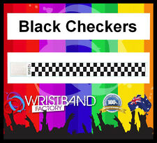 100 x Tyvek Black Checkers Party Function Event Disco Rave Security Wristbands