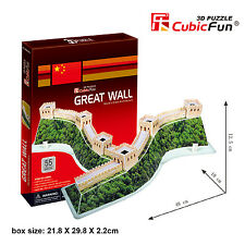 New Great Wall Of China 3D Model Jigsaw Puzzle 55 Pieces C069H