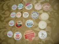 Lot of 18 New Old Stock Milk Bottle Dairy Caps Pa Va. Some Generic Harshbarger