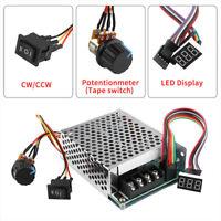 DC10-55V 12V 24V 36V PWM Motor Speed Controller CW CCW Reversible Switch MAX 60A