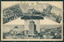 Brescia Città Saluti da PIEGA cartolina QK6625