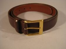 Mens Coach Brown Leather Belt Size 42