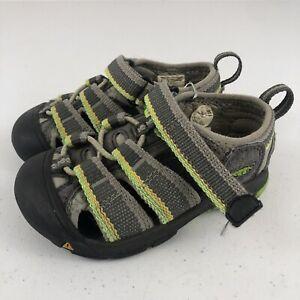 KEEN Newport H2 Waterproof Hiking Green Beach Sport Sandals Toddler Boys Sz 10