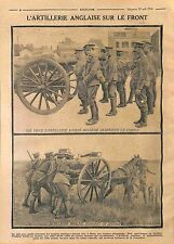 Artillery British Army Sammies Bataille  Mons Belgique Belgium Belgie WWI 1914