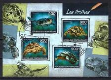Animaux Tortues Centrafrique (161) série complète 4 timbres oblitérés