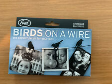 Fred Birds On A Wire Picture Hanger Memos Notes Holder Clips New, Set of 8 Y