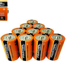 10 x Duracell D Size batteries Industrial Procell Alkaline LR20 MN1300 MONO 1.5V