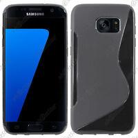 Housse Etui Coque Silicone S-line Gel Souple Noir Samsung Galaxy S7 edge G935F
