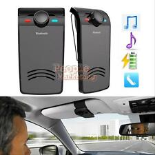 Wireless Bluetooth Hands Free Car Kit Speaker Phone Visor Music Player Fr Iphone