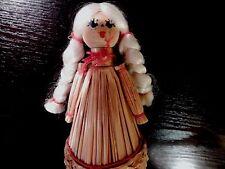 Vtg Primitive Handmade Straw Swedish Angel Doll/Decoration Christmas Decor