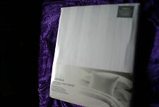 Hotel Essentials Sateen Stripe  WHITE SINGLE DUVET SET poly cotton luxury feel