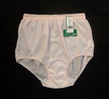 Carole Embossolon Antron III 100% Nylon Full-Cut Pastel Pink Brief Size 12/5XL