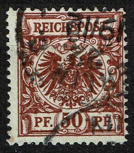 Deutsches Reich 50 aa gestempelt, Fotoattest Jäschke-L. BPP, Mi. 2000,-