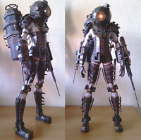 "60cm=23"" Tall BioShock 2 Big Sister DIY Figure PaperCraft Paper Model Kit"