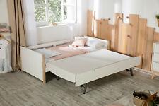 1 Ausziehbett grau Kojenbett Gäste Schlafzimmer Landhaus Bett Malsu 90x200