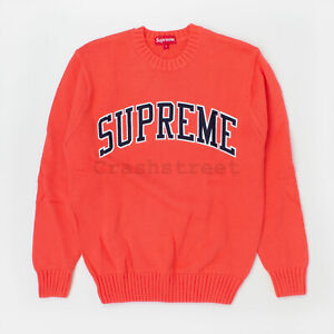 Supreme SS16 Tackle Twill Sweater hooded camp box hat shirt cap Coral