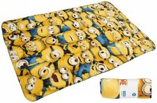 Despicable Me Minions 'Expressions' Panel Fleece Blanket Throw Brand New Gift