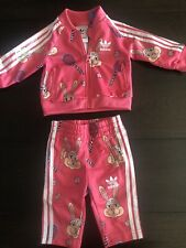 ADIDAS x Mini Rodini Baby Girl 3 Months Bunny Track Suit Two piece