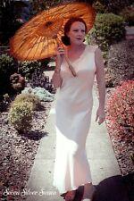 Vintage 1950s Silk Satin Pink Bias-Cut Nightgown LIngerie Slip M L 12 14 Dress