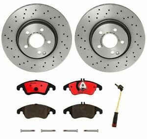 Brembo Front Brake Kit Ceramic Pads Disc Rotors for Mercedes W205 C300 Sport Pkg