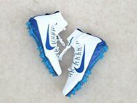 Nike Alpha Huarache 7 Elite Lacrosse Cleats Size 12 Mens White Blue CJ0224-101