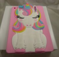 for Ipad 9.7 inch pink unicorn rubber bling rainbow main