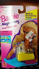 Vintage 1995 Mattel Barbie Magic Moves Food Processor in yellow