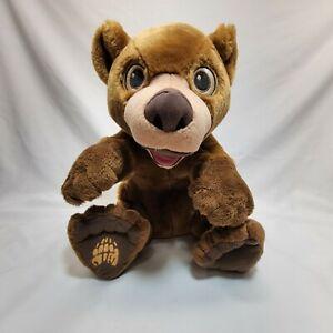 "Disney Hasbro Brother Bear Tumble N Laugh Koda Talking Interactive Plush Toy 12"""